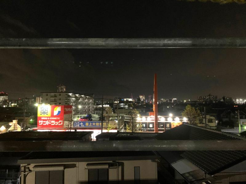 三階からの夜景